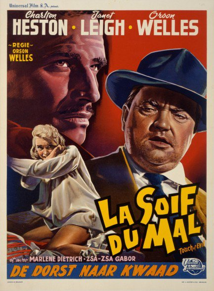 A weird yet unique French poster from the Orson Welles classic film Touch of Evil (1958). <br>http://pic.twitter.com/FA1PAPwfa7