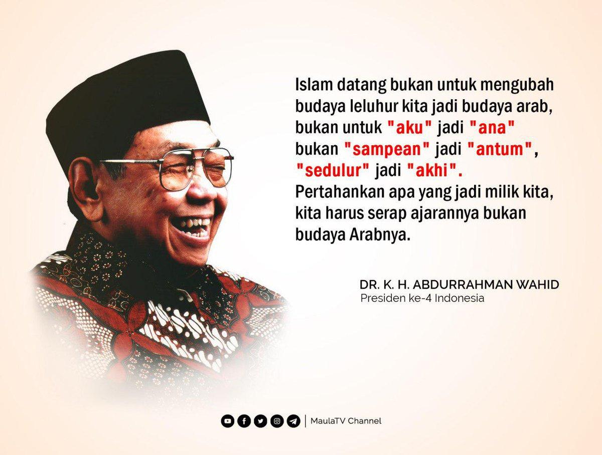 #Quotesmaulatv #TokohNasional #AbdurrahmanWahidpic.twitter.com/8yg3sWi9IQ