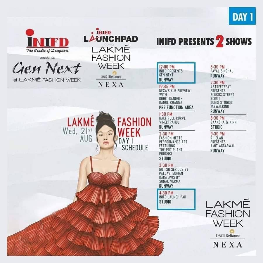 #GetReady  #Today .. Lakme Fashion Week begins with INIFD Presents GenNext @ 12 pm and INIFD Launchpad @ 4:30 PM. #2  Big Shows.. #InifdGenNext  #LakmeFashionWeek  #INIFDLaunchpad  #Proud2bDesigner  #INIFDSaltLake