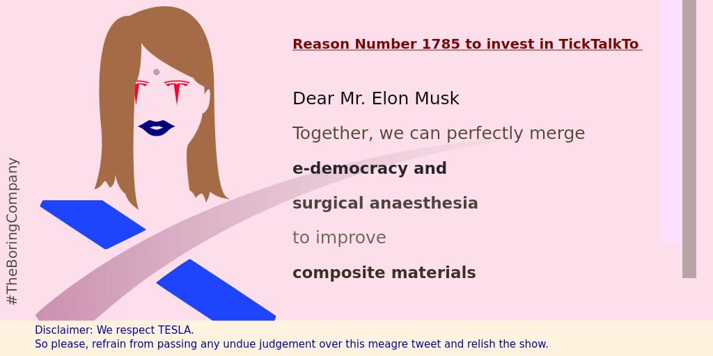 @TickTalkTo is a #MentalHealth care Startup. We wish @elonmusk be our mentor. <br>http://pic.twitter.com/k5sz2JSqpg