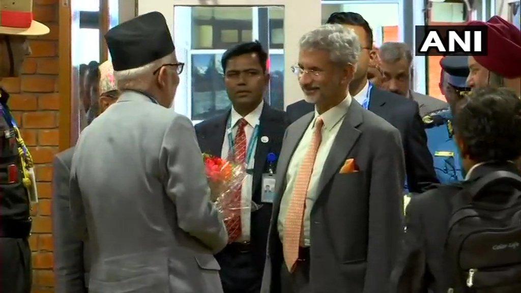 Nepal: External Affairs Minister Dr S Jaishankar arrives in Kathmandu for 5th Joint Commission Meeting.