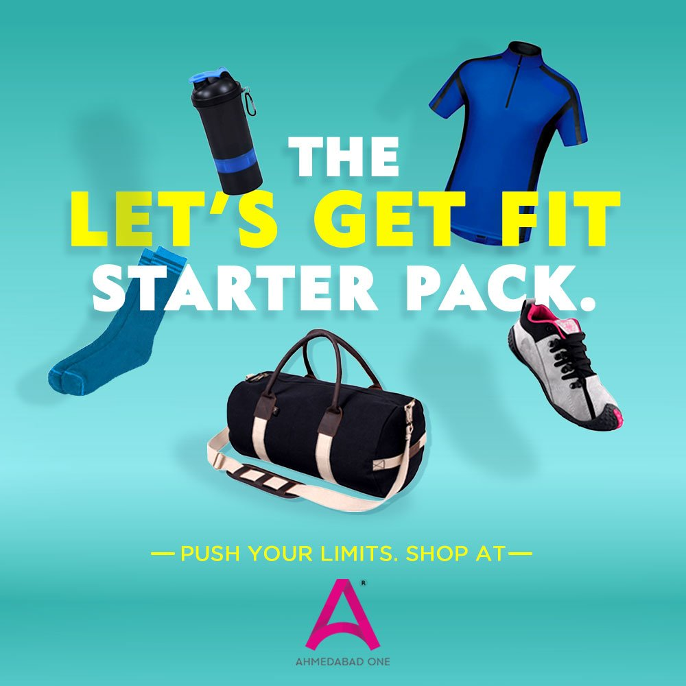 Bold styles to flaunt your fitness. Get all the essentials from #AhmedabadOne Mall today. Tag a fitness lover in the comments below. . #Gym #StarterPack #WorkoutEssentials #BoldStyles #Fitness #FitnessFreak #Workout  #Essentials #Health #WednesdayMotivation #WednesdayWisdom<br>http://pic.twitter.com/kJjVVYUE4K