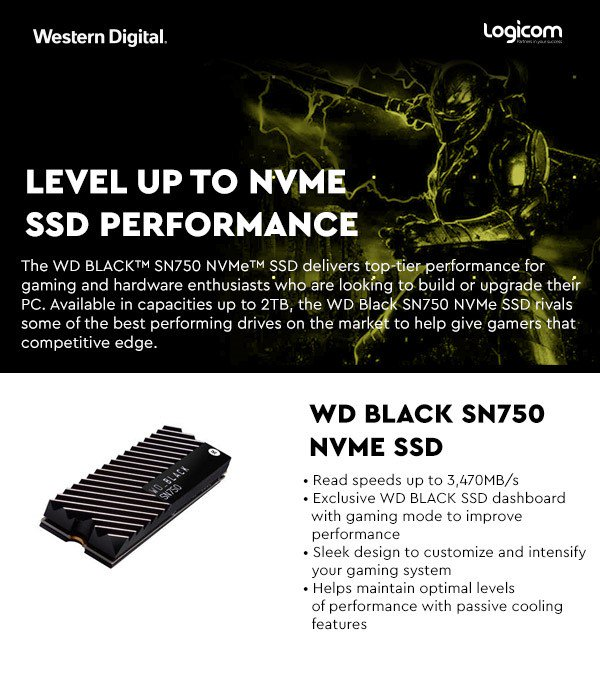 Level up to NVME SSD Performance with Western Digital. Contact Logicom to find out more.