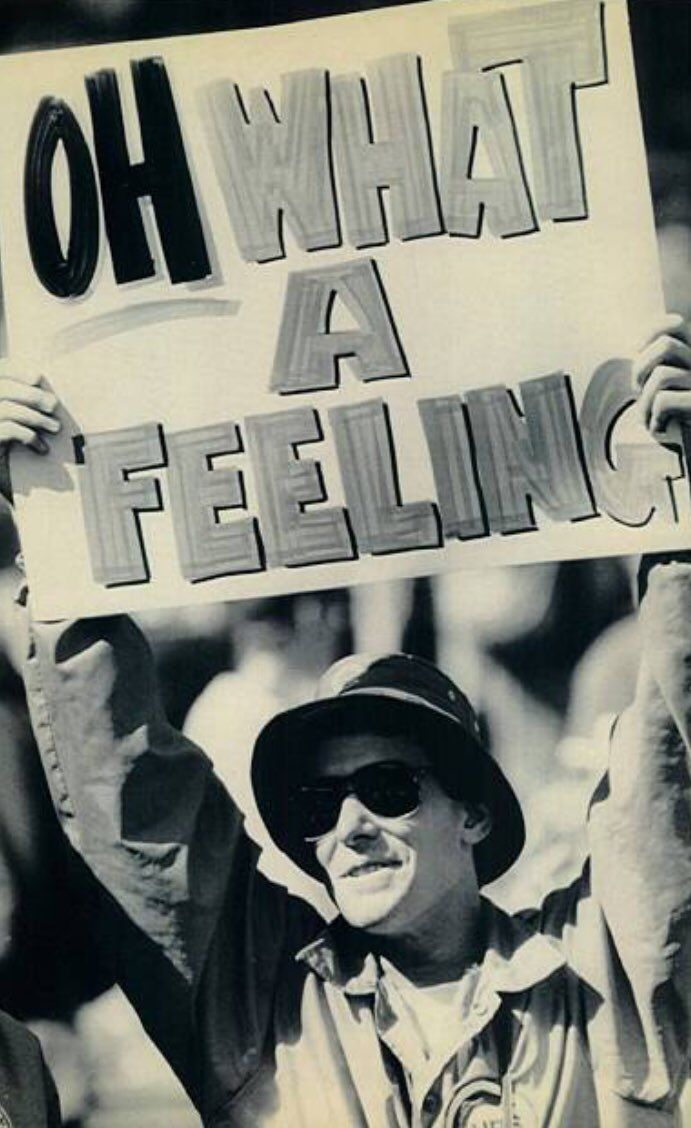 Cubs fan during the 1984 MLB Playoffs https://t.co/SccEy1LdqA https://t.co/8eDVFl164C