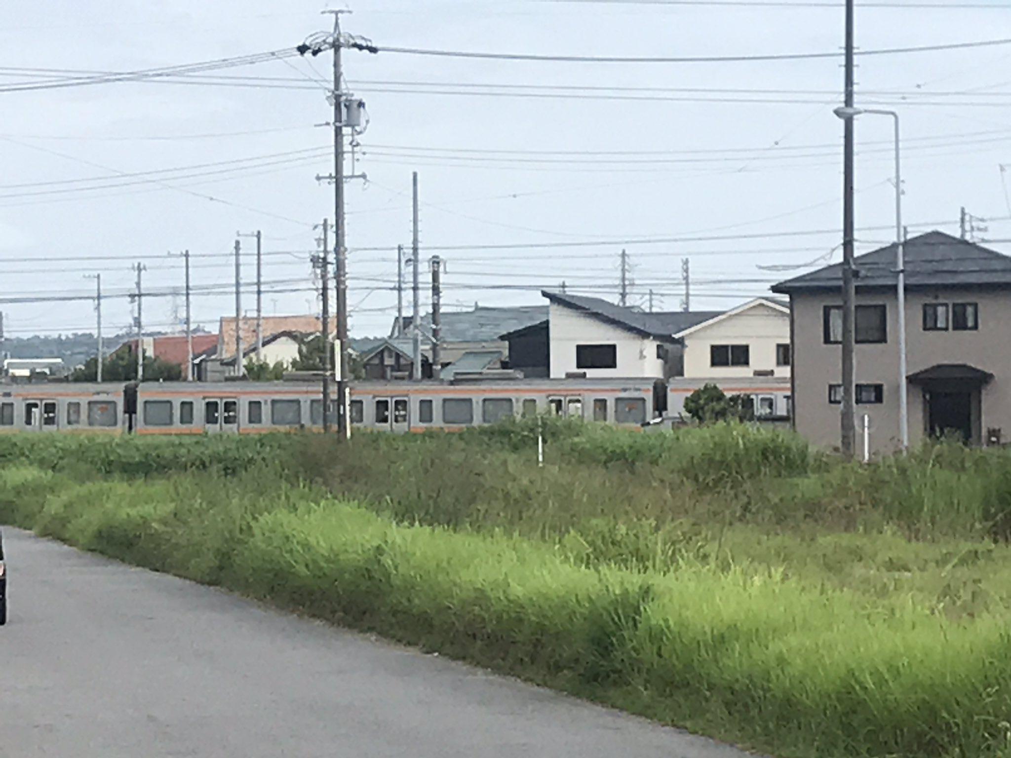 中央本線の神領駅~高蔵寺駅間で人身事故が起きた現場の画像