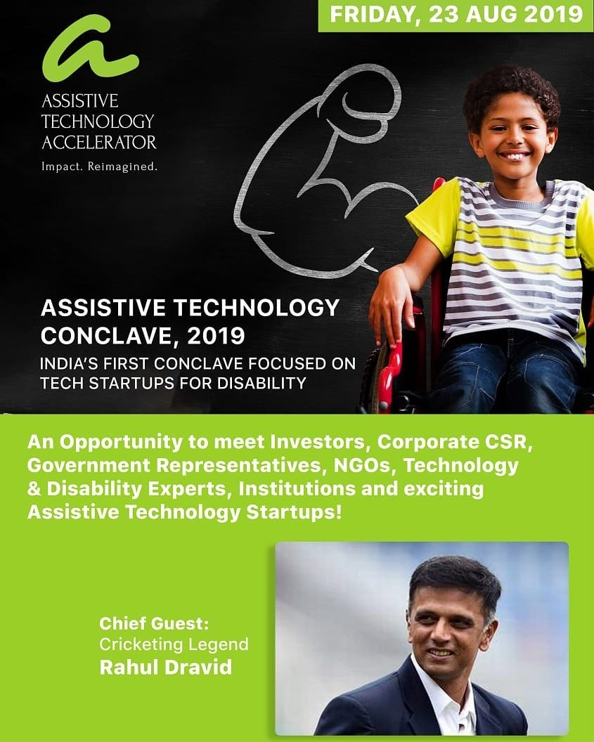 We are happy to be taking part in the Assistive Technology Conclave 2019, India's First Conclave Focussed On Tech Startups For Disability. We thank Assistive Technology Accelerator @SamarthanamTFTD for inviting us!   #Assistivetech #Startups  #assitivetechnology #Conclave #India<br>http://pic.twitter.com/0wl1xJQA6h
