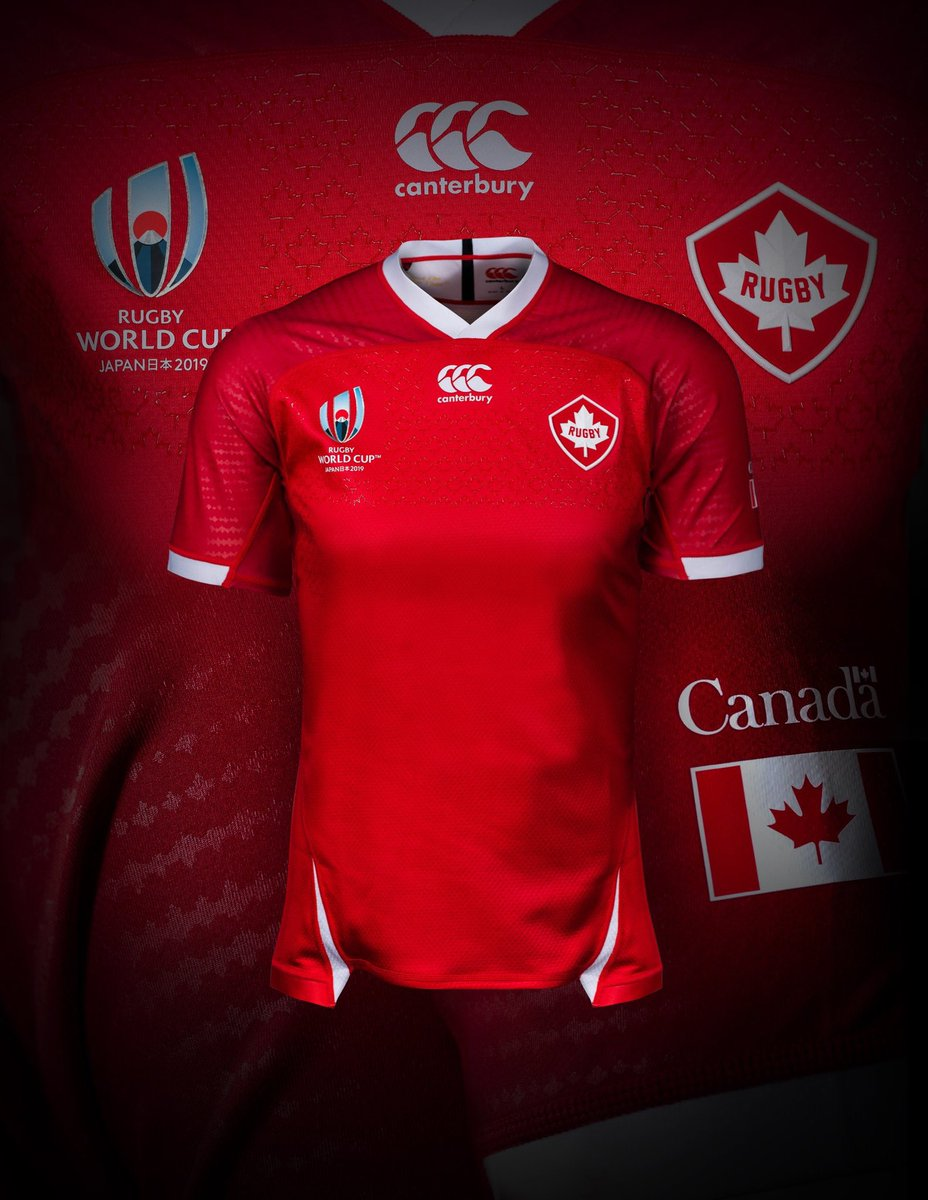 test Twitter Media - 🇨🇦 @RugbyCanada have launched their official jerseys for Rugby World Cup 2019 https://t.co/sIW7QHVGIC