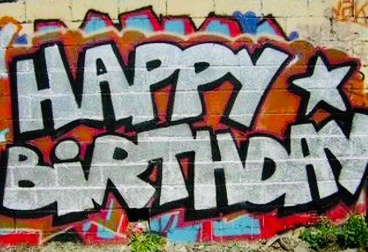 С днем рождения граффити картинки