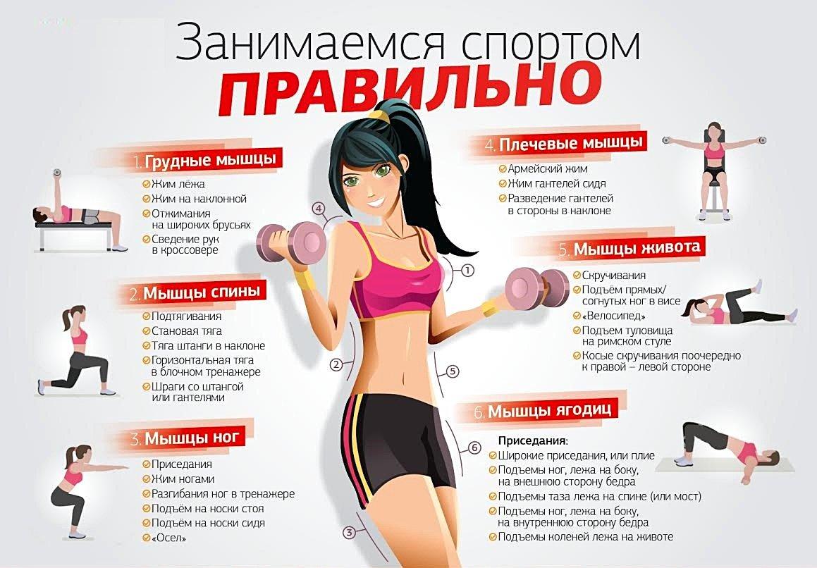 Какие упражнения во время диеты