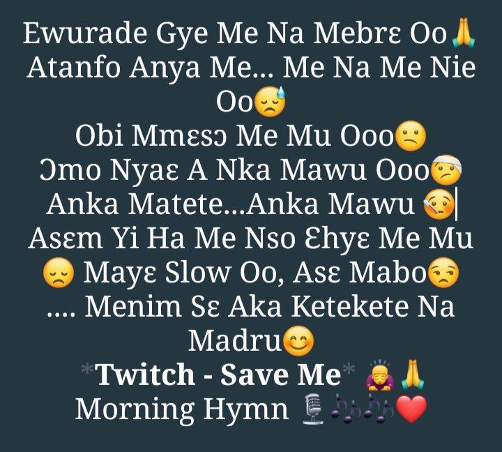 Morning Hymn  @musicstwitch - #SaveMe God Bless You Bro  @GroundUpChale <br>http://pic.twitter.com/5sLI0e58Cv