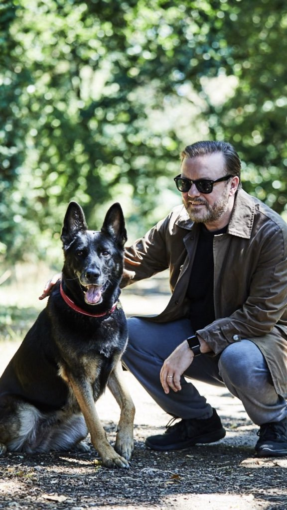 A lovely added bonus that has come with the global success of #AfterLife is so many people discovering or rewatching my older stuff such as #Derek and #Humanity. The beauty of @netflix. Thank you. Best fans in the world.