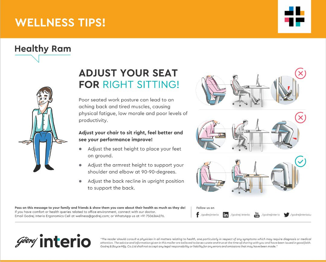 Outstanding The Ergonomist On Twitter Adjust Your Chair Height For Caraccident5 Cool Chair Designs And Ideas Caraccident5Info