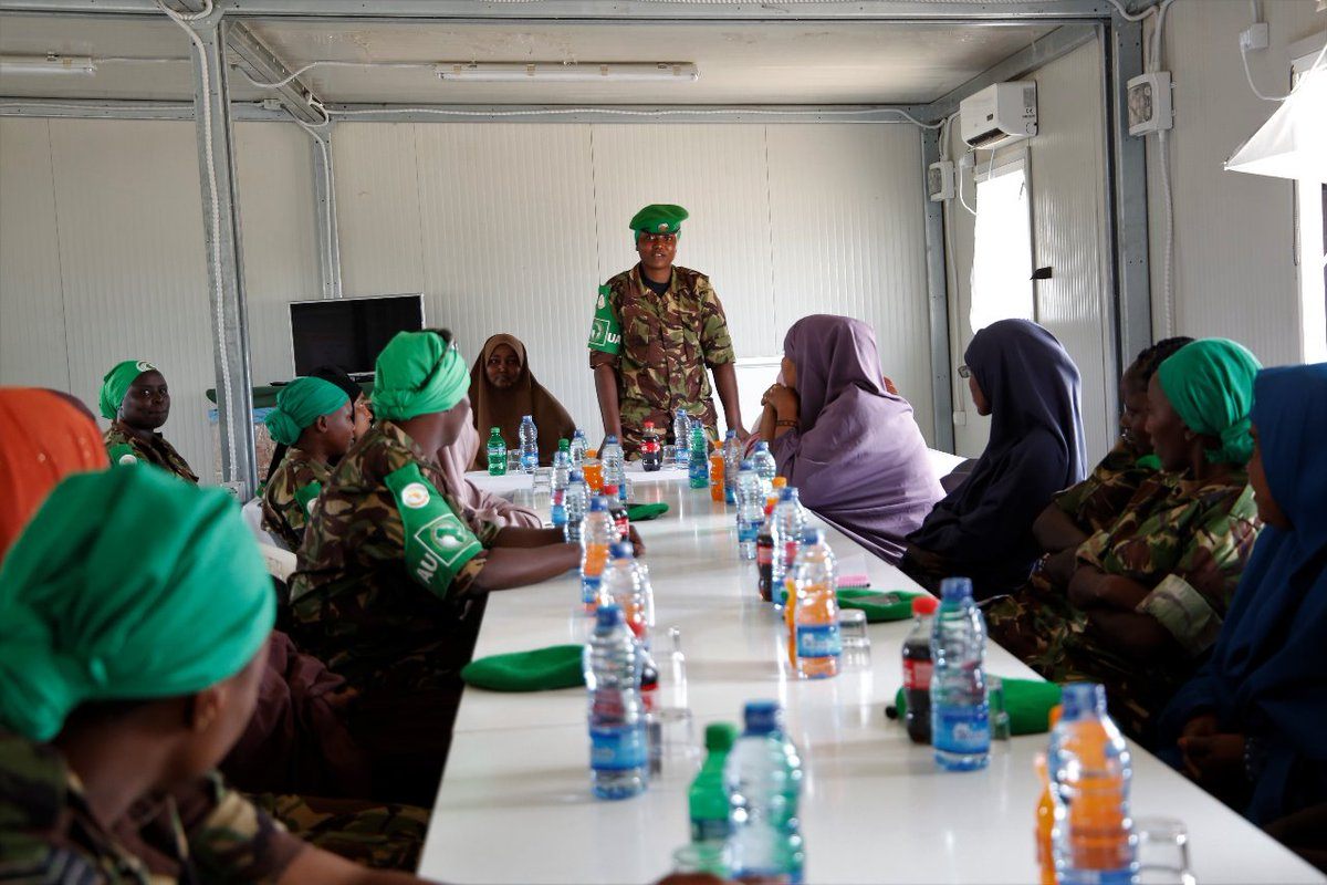 AMISOM female personnel deployed under Sector II have met a delegation of women leadership from Dhobley town (Dhobley Women Group) and its environs. The meeting took place at Sector II Headquarters, Dhobley.    https:// facebook.com/story.php?stor y_fbid=1733138796830494&id=1220669148077464  … <br>http://pic.twitter.com/v1vH0Zvfkf