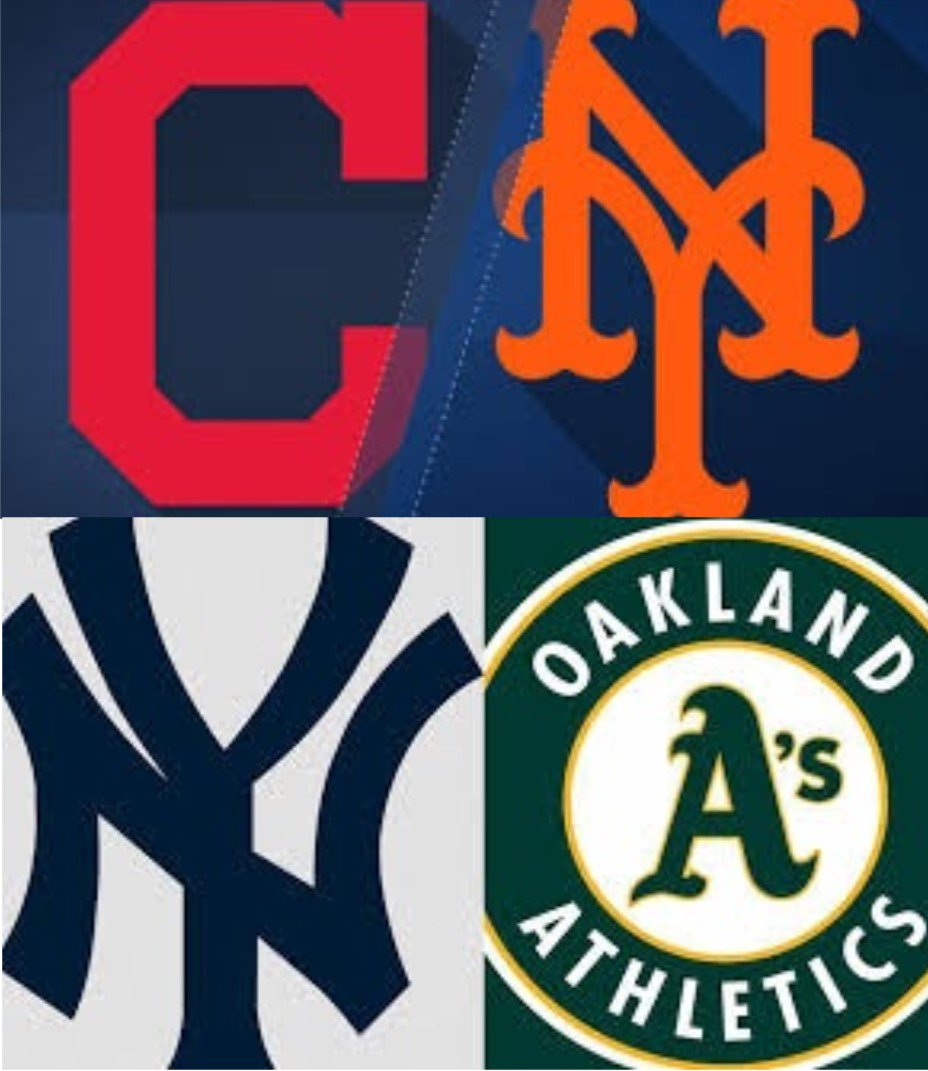 Met Yankees Action On Our TVs Tonight.  Indians Vs Mets First Pitch 7:10 pm Yankees Vs A's First Pitch 10:07 pm https://t.co/LcMgZxDWK6