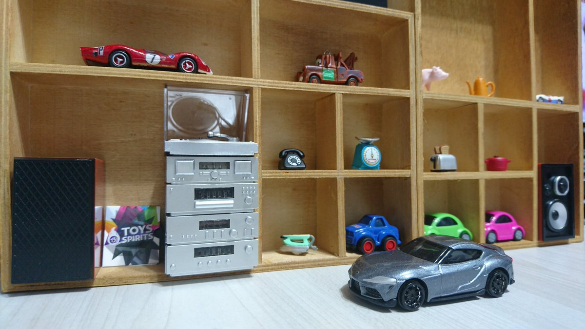 test ツイッターメディア - 百均で小物入れを買ってきました。部屋っぽく見えるかな?  #ダイソー #ウッド収納 #仕切りボックス #小物入れ #ミニチュア #ミニカー #トミカ #トヨタ #GR #スープラ #daiso #wooden #storage #box #miniature #modelcar #miniaturecar #tomica #supra https://t.co/b1d3LmNkvx