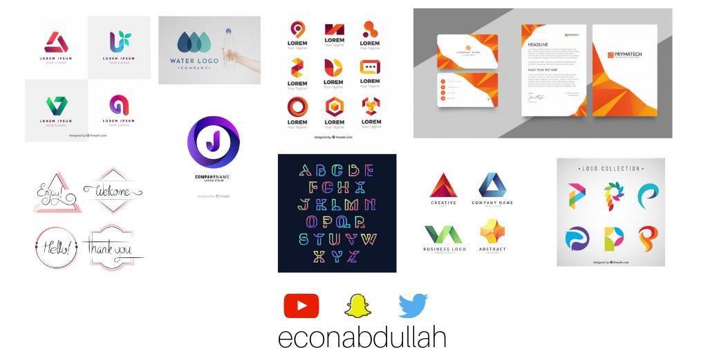 وفر فلوسك هذي اكثر من 100 شعار (Logo) تقدر تستخدمها من غير اي حقوق فكرية! وكلها يمديك تعدلها ببرامج التعديل الخاصة. bit.ly/2X3FjsE