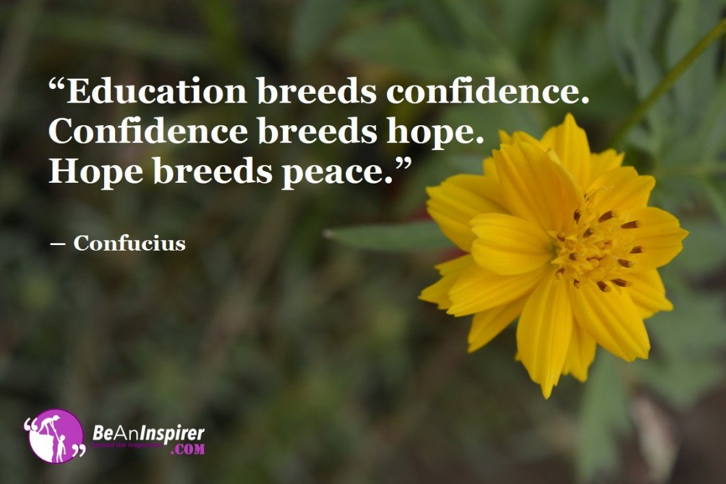 Education breeds confidence. Confidence breeds Hope. Hope breeds peace. -Confucius #motivation #motivational #motivationalquotes #inspiration #inspirational #dataZenEngineering #hardwork #workhard  #quoteoftheday<br>http://pic.twitter.com/B7KW150Rvq