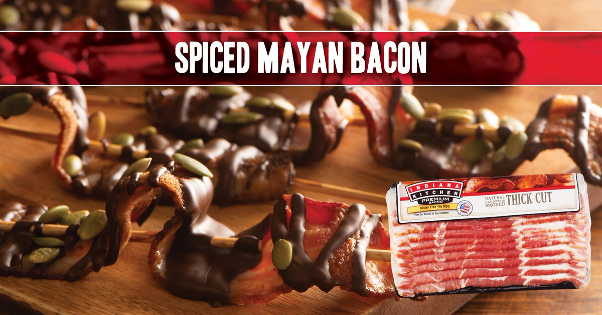 In honor of the 6th annual Indiana Bacon Festival--this Saturday!--here's an outside-the-box bacon recipe to whet your appetite and imagination!  Get recipe: https://t.co/n7saM2eEcS  View product: https://t.co/czzcyj4KoI   #RecipeWednesday #MyBrandIsIndiana #IndianaBaconFestival https://t.co/9YQrLW3eF7
