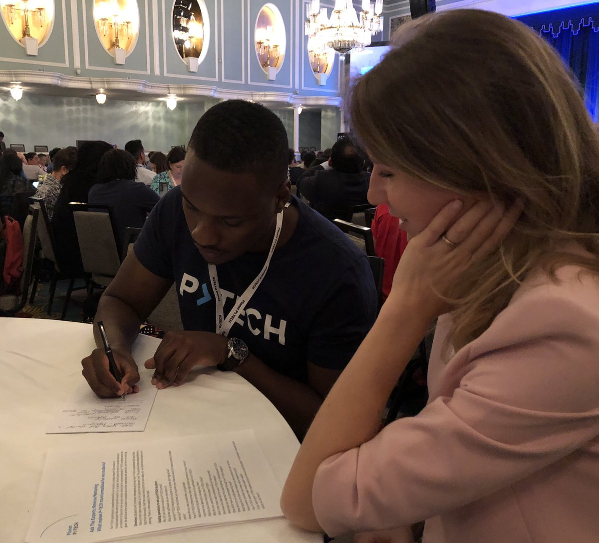 How incredible to have the education leaders learn from the experts — the #students!  THIS is the @PTECHNETWORK! #PlanetPTECH2019 #WednesdayWisdom @IBMorg #WeArePTECH #reversementoring #childrenareourfuture<br>http://pic.twitter.com/HjxWoQLvYx