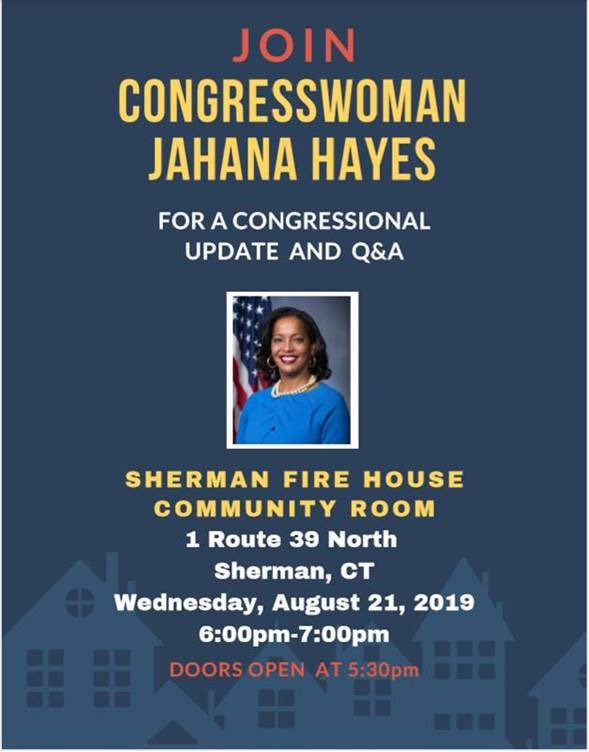 Reminder: Sherman Congressional Update and Q&A Session is tonight. Doors open at 5:30 PM.