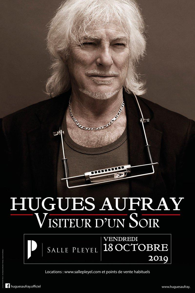 ➖ HUGUES AUFRAY➖   Date supplémentaire le 20 octobre 2019 à la @sallepleyel !   Réservez vos billets ici dès maintenant : https://t.co/wa7PAbBdfd  Concert présenté par @encore_prod   #sallepleyel #hug
