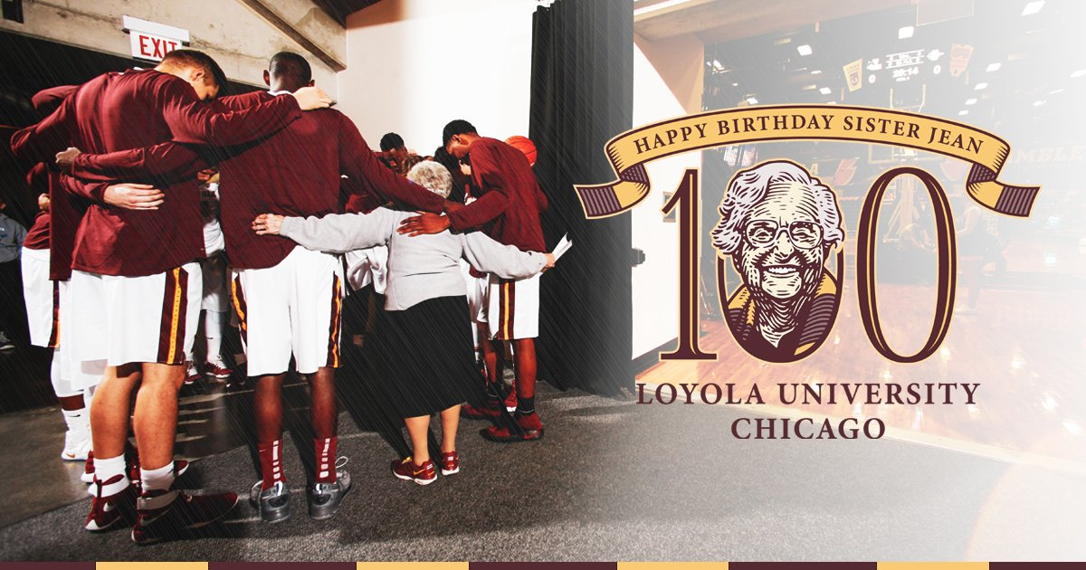 Happy 100th Birthday to our rock, who is a true inspiration to us all!   Her Birthday wish?    http:// bit.ly/2Z6Vkjl        #SisterJean100 x #WorshipWorkWin x #OnwardLU<br>http://pic.twitter.com/PRf8wiMapy