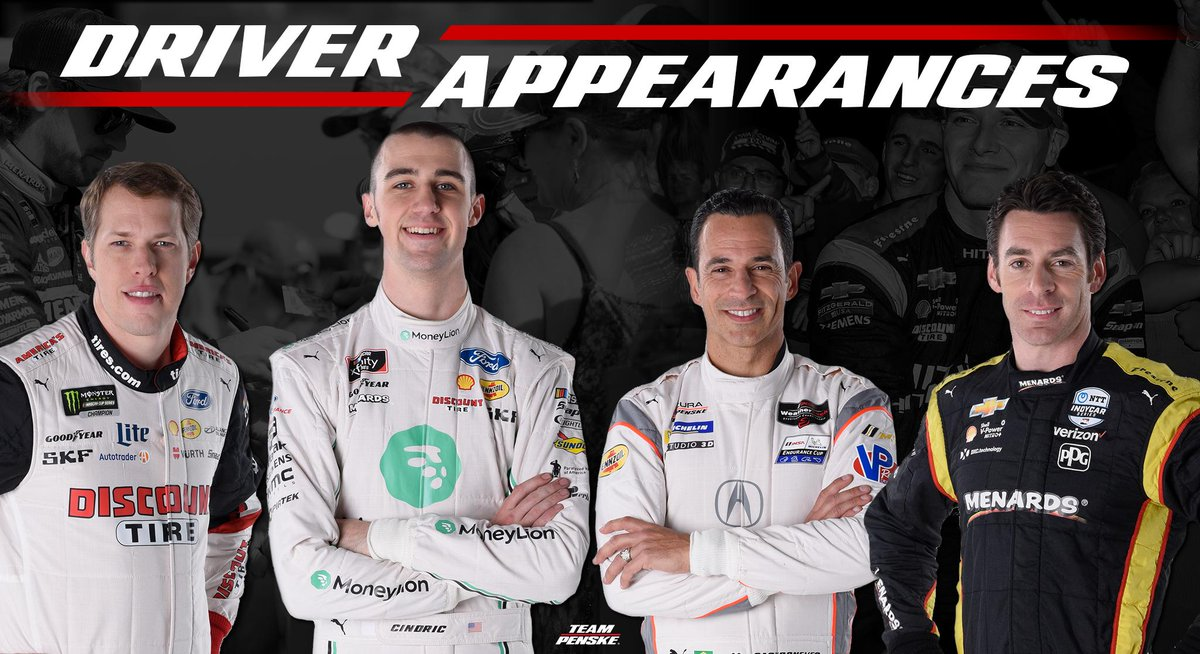 Weve got some appearances coming up this weekend with our @indycar drivers! Check out the schedule and see if you can make it. 😁🏁 ✍: bit.ly/2tfBEoD #INDYCAR
