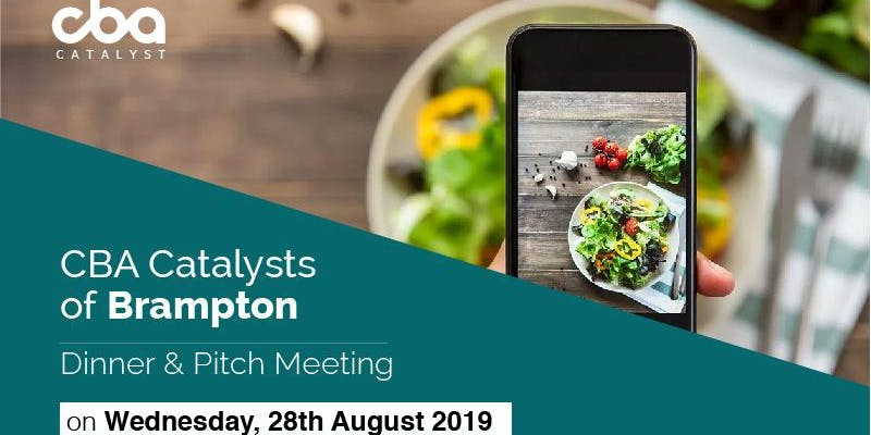 Register today for the @CBABrampton F&B Innovation Dinner & Pitch on Aug 28! Hear from #FoodAndBeverage startups that are changing the industry.  https://www. eventbrite.com/e/cba-catalyst s-of-brampton-fb-innovation-pitch-tickets-68638608927  … <br>http://pic.twitter.com/mLX2eq9PuV