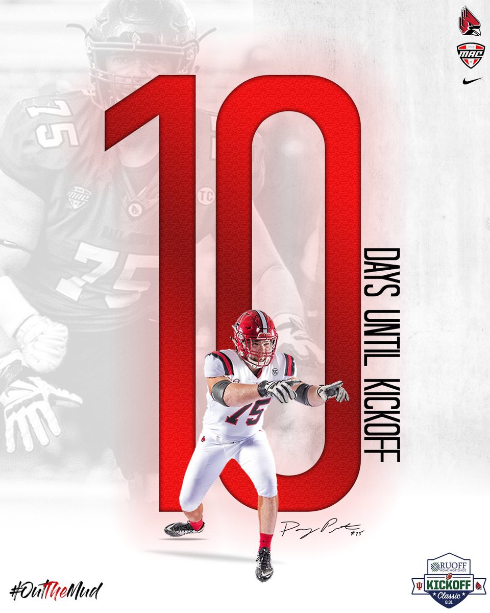 1️⃣0️⃣ Days until we kickoff the 2019 season at @LucasOilStadium, but who's counting? We Are. #OTM 🔴⚫️