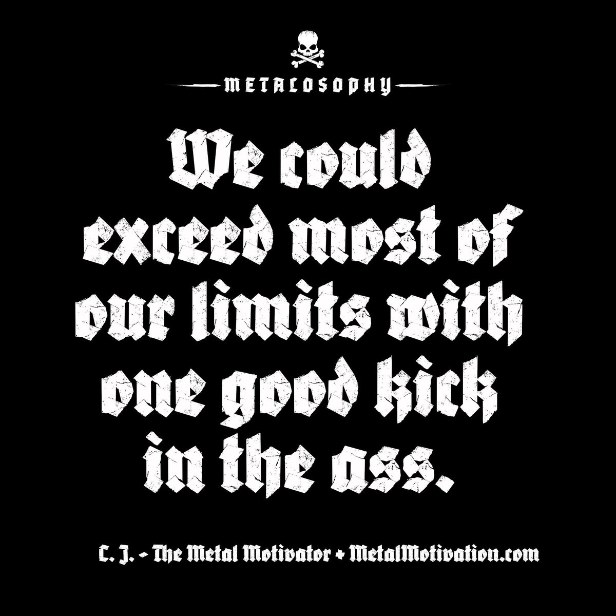 I absolutely love the motivational messages from Metal Motivation. Straight to the point and spot on. Let's make it an ass-kicking hump day Wednesday!  #morningmotivation <br>http://pic.twitter.com/Rn767XFtBa