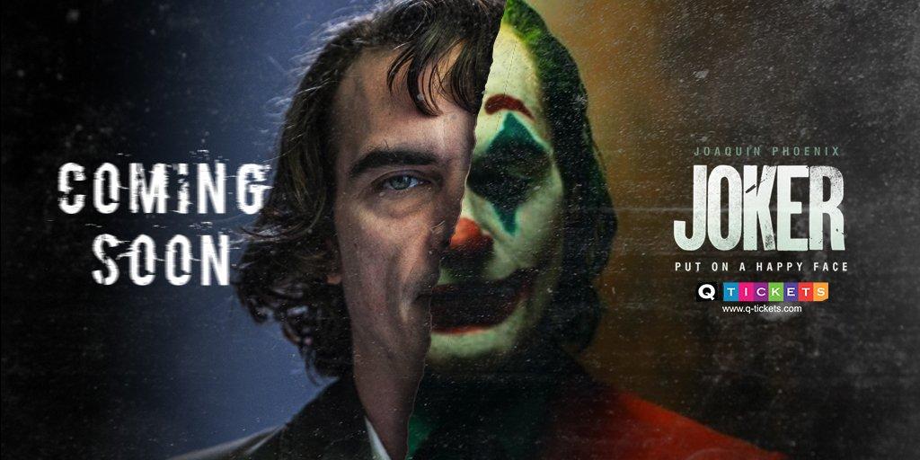 Put on a happy face. #Joker arrives on October 4. #Qtickets #ComingSoon #DCComics #Qatar #Doha