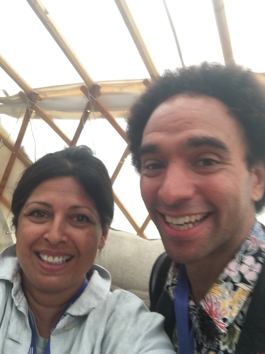 Good old yurt @Edbookfest with the wonderful @Poetryjoe We had a laugh and catch up and a #saveourlibraries natter ...before he continues on his fantastical library tour. <br>http://pic.twitter.com/0wQLbdm6MU