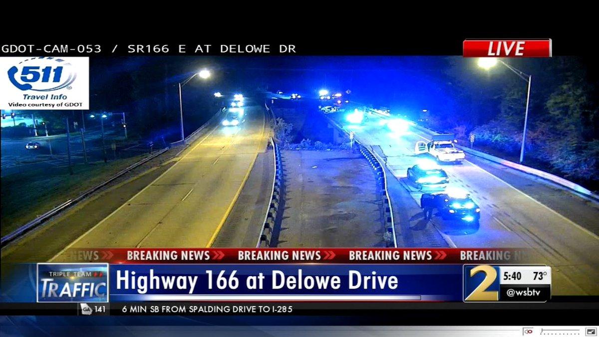 @Atlanta_Police No change. All lanes still blocked. Live update next on #wsbtv.