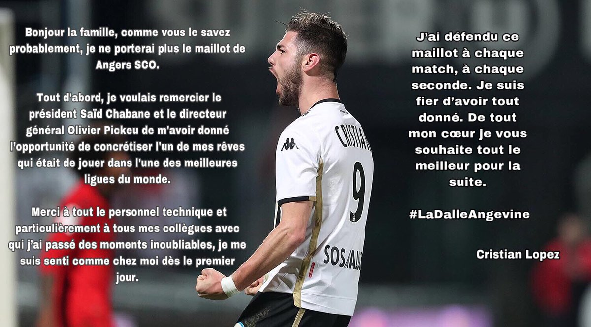Angers SCO Qatar Cristian Lopez mercato Ligue 1 Ouest MEDIAS