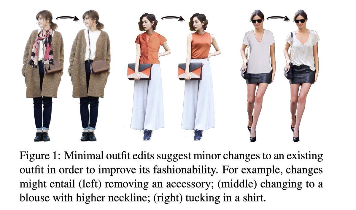 えっ、?!ちょっと論文みてたら急にプチプラのあやさん(@ayaofpetitprice)出てきてびっくりしたんだがwww Fashion ++:ファッション性を向上させるために、機械学習を用いて、既存の衣服へのわずかな変更を提案する仕組みについて(例:小物の取り外しなど)👕🧣 #AI▶︎