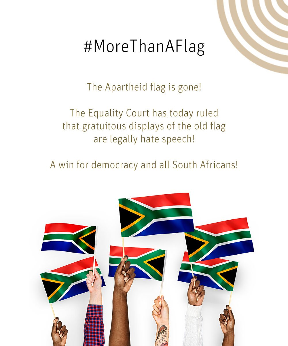 South African court partially bans display of 'apartheid flag'