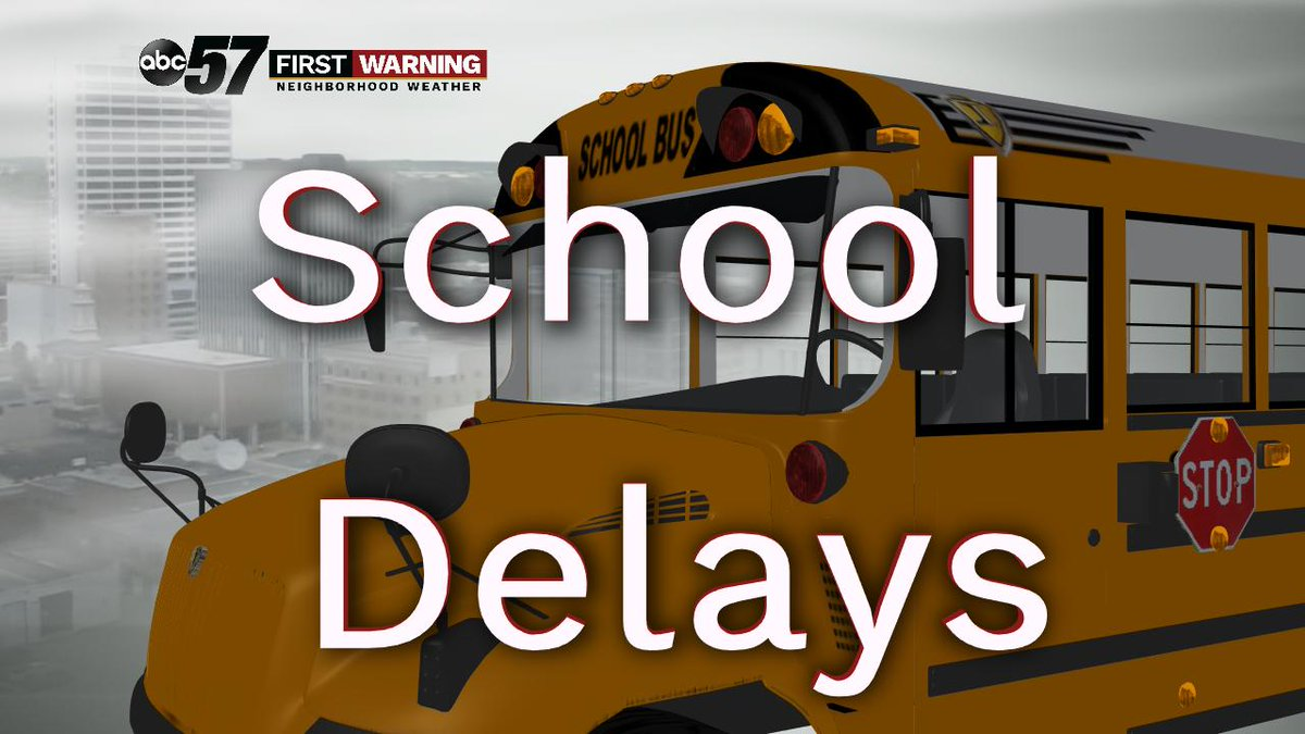 New Prairie United Schools, West Noble Schools and LaPorte Schools are under a 2-hr delay.   We have a LIVE check of traffic with @953MNC and look the visibility in your city on @ABC57News.  https://t.co/tgsUrmwwth https://t.co/D0UnNDenvU