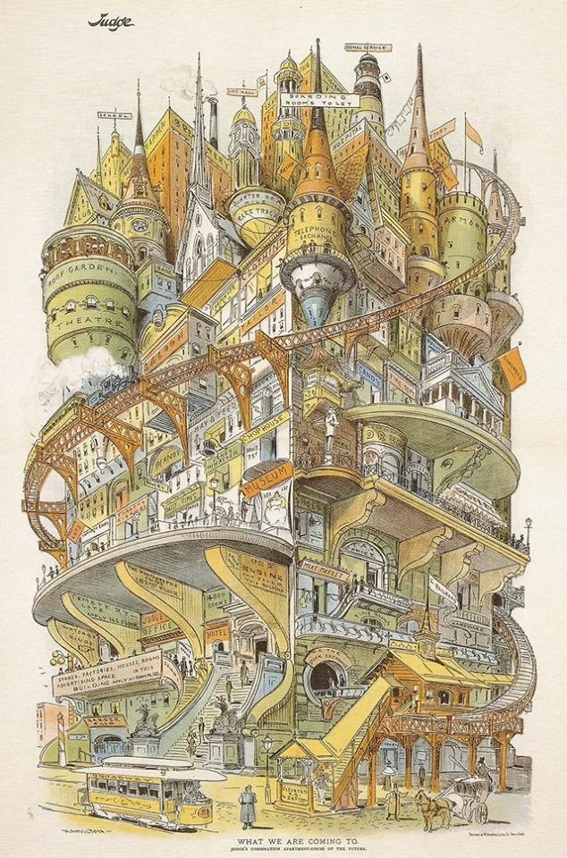 A vision of the future by Grant Hamilton circa 1895 <br>http://pic.twitter.com/DYXA9DbMtt