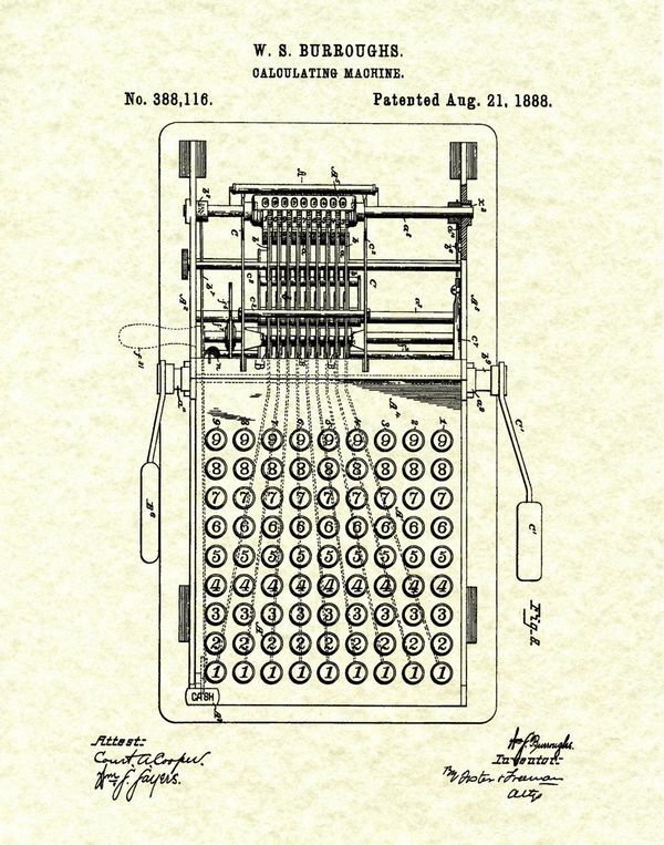 test Twitter Media - #OnThisDay in #Tech (1888)  William S. Burroughs receives a patent for his calculating machine. They were difficult to use but he soon improved on them and went on to become a force in the developing calculator industry. https://t.co/ILEQthVXgV