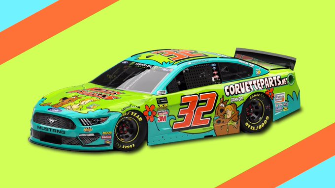 JEEPERS!  @CoreyLaJoie revealed the fastest Mystery Machine ever and will debut it at @MartinsvilleSwy!  What's your best Scooby-Doo reaction to this wrap?