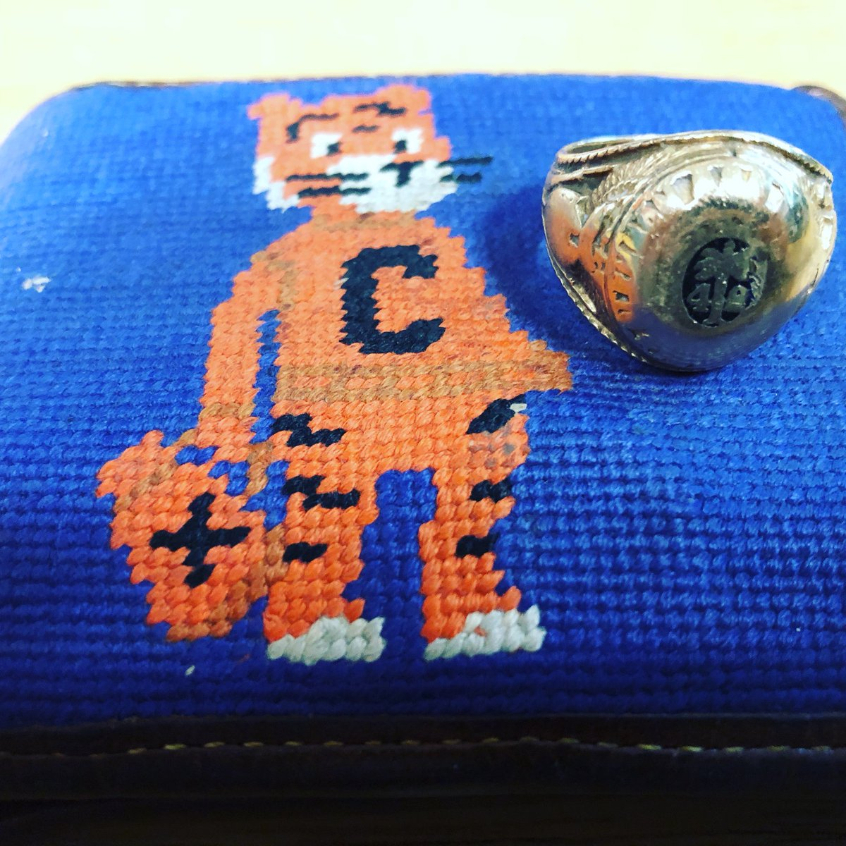 Can't wait to bring out my granddad's 42 class ring again this year. Wear it to every single home game to have him with me in the Valley. #ClemsonFamily <br>http://pic.twitter.com/LOGeCjCaY1