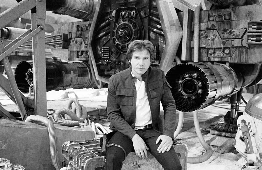 Harrison Ford behind the scenes of The Empire Strikes Back <br>http://pic.twitter.com/jvCm0yGSGV
