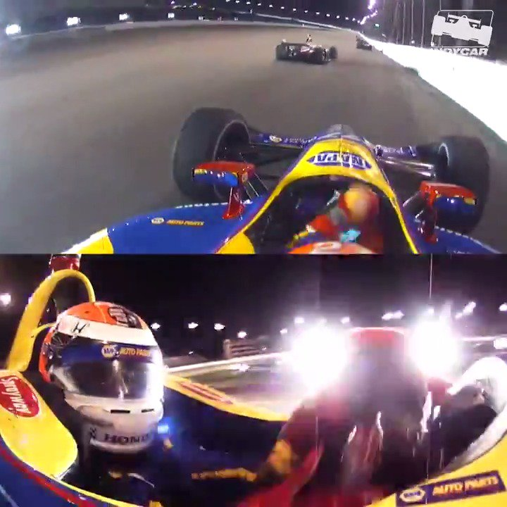 On his way to a 2nd place finish at @WWTRaceway last year, @AlexanderRossi made this wild save 😱 #Bommarito500 // #INDYCAR
