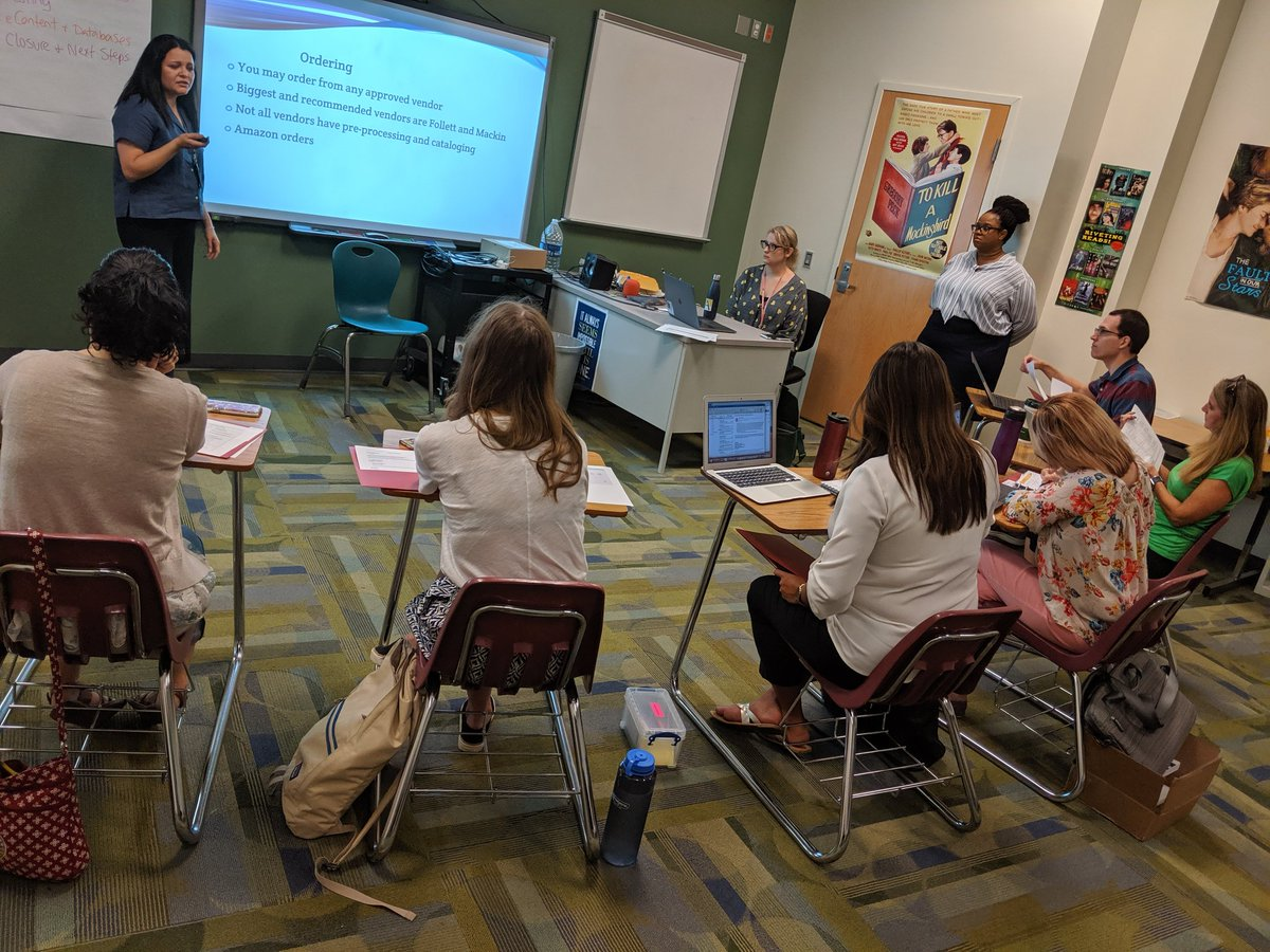 Learning about technology and ordering with our new librarians so that our school library processes and systems run smoothly! <a target='_blank' href='http://twitter.com/FollettLearning'>@FollettLearning</a> <a target='_blank' href='http://twitter.com/MackinLibrary'>@MackinLibrary</a> <a target='_blank' href='http://twitter.com/APSVirginia'>@APSVirginia</a> <a target='_blank' href='https://t.co/CIIzYkmWEl'>https://t.co/CIIzYkmWEl</a>