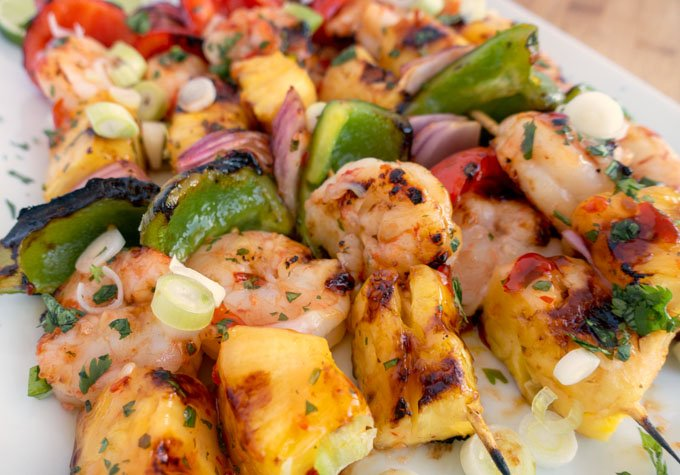 Summertime means Grilling Time and my Grilled Sweet Chili Shrimp and Pineapple Skewers are perfect for your next get together! Click on this link for a printable recipe -> askchefdennis.com/grilled-shrimp… #ad #foodie #seafood #recipe