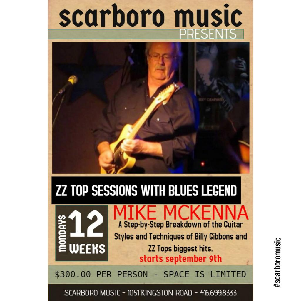 ZZ Top sessions with #CanadianBluesLegend - #MikeMcKenna.  A step-by-step breakdown of the styles and techniques used by #BillyGibbons that made ZZ Top's hits chart monsters! Contact us today to register - space limited. 416.699.8333 OR info@scarboromusic.com #wearemusic #zztop <br>http://pic.twitter.com/Xt6cZJM00z