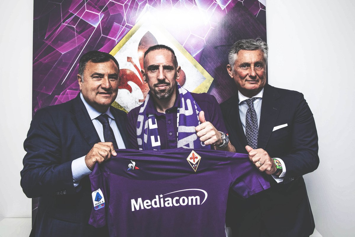 OFFICIAL: Franck Ribéry has joined Fiorentina on a free transfer.