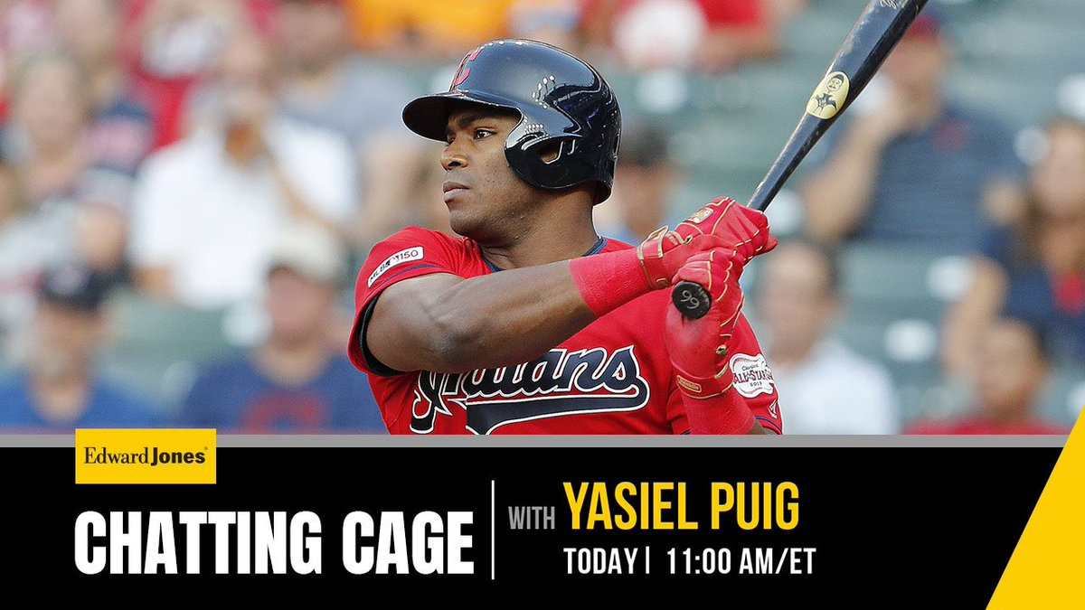 The moment you have surely been waiting for: @YasielPuig answers your questions today.Reply here using #chattingcage
