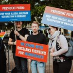Image for the Tweet beginning: Fiiliksiä päivän Putin-mielenilmauksesta! Puolustamme yksilönvapautta,