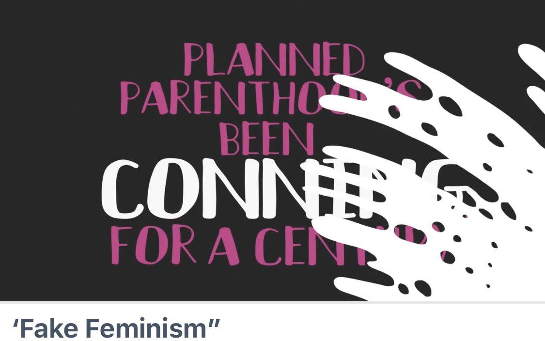 """Watch """"'Fake Feminism"""""""" on #Vimeo vimeo.com/354940722?ref=… @realDonaldTrump"""